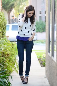 polka-dots and jeans