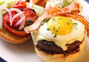burger with egg