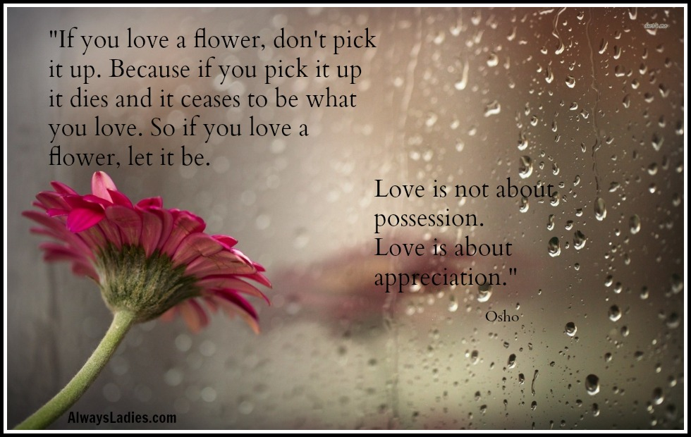 Love Is Not About Possession Always Ladies